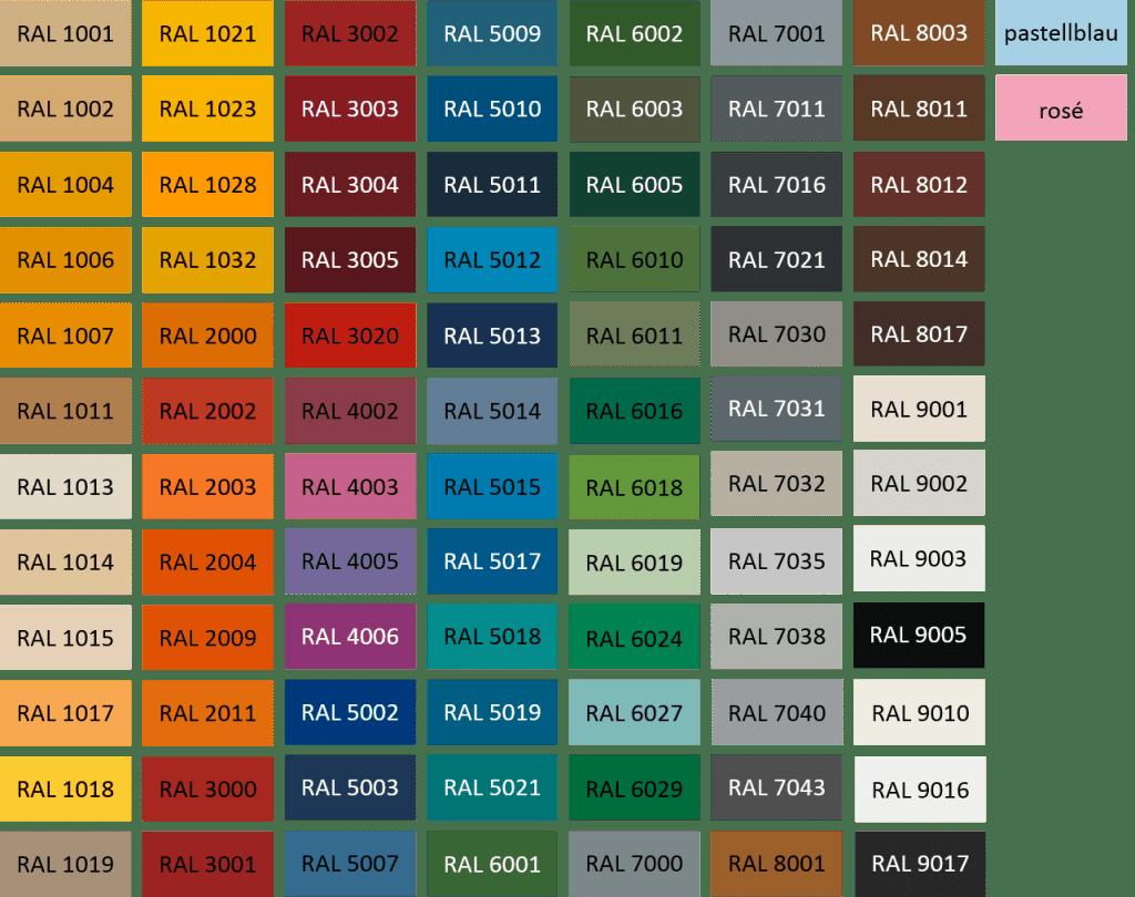 کدهای ورق رنگی